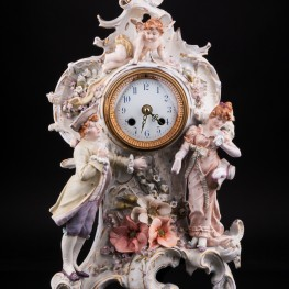 Фарфоровые часы, Германия, кон. 19 в