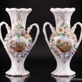 Две декоративные вазы, Coalport, Великобритания, кон. 19 - нач. 20 вв