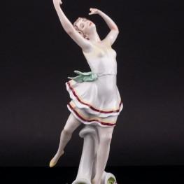 Фигурка из фарфора Танцующая девушка, Scheibe-Alsbach, Германия, сер. 20 в.